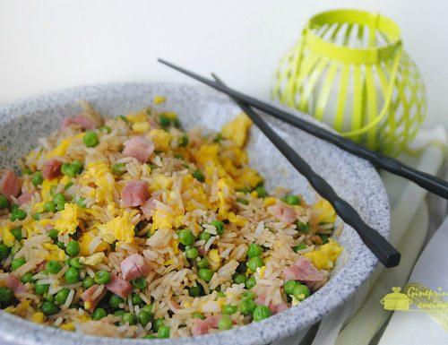 riso alla cantonese preparato con il bimby