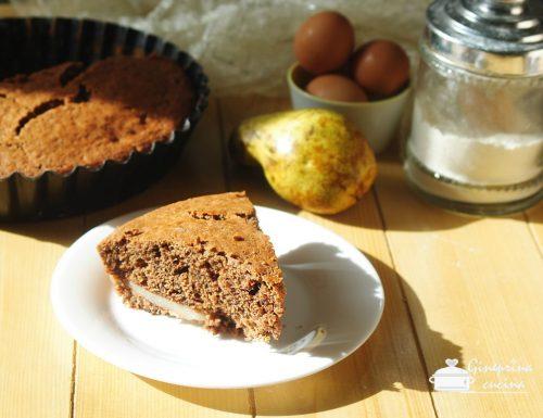 torta cioccolato e pere sofficissima