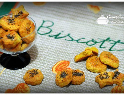 biscotti al parmigiano e curcuma con semini