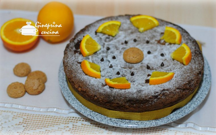 torta agli amaretti al profumo di arancia