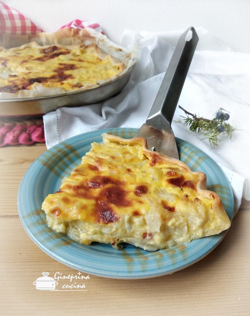 torta cavolfiore gorgonzola e prosciutto