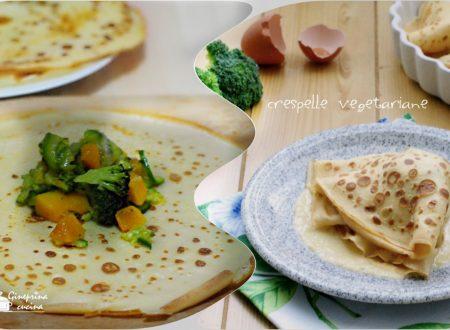 crespelle vegetariane con salsina al parmigiano