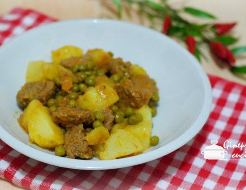 spezzatino bianco con patate e piselli – ricetta bimby