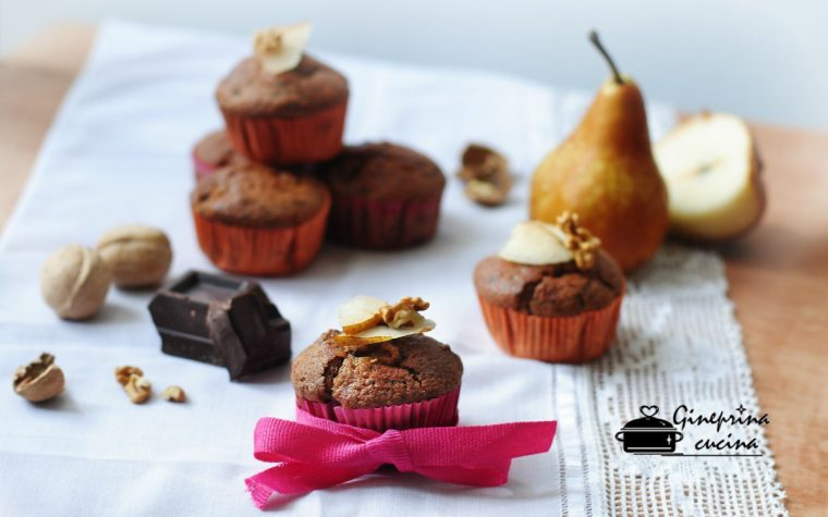 muffin al cioccolato e pere