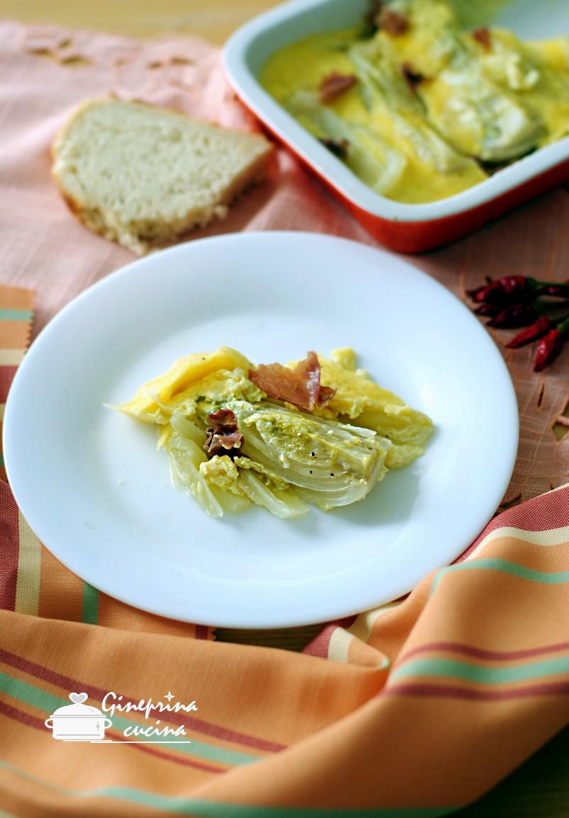finocchi con uova e fontina
