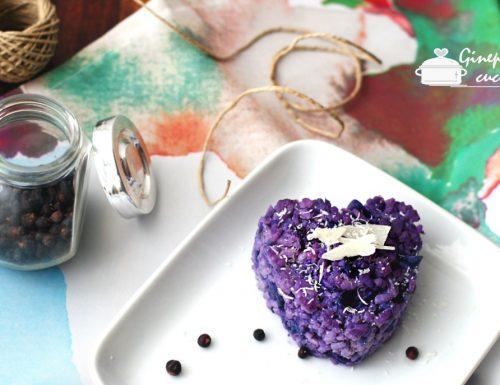risotto con cavolo cappuccio viola