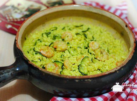 risotto agli zucchini e gamberetti