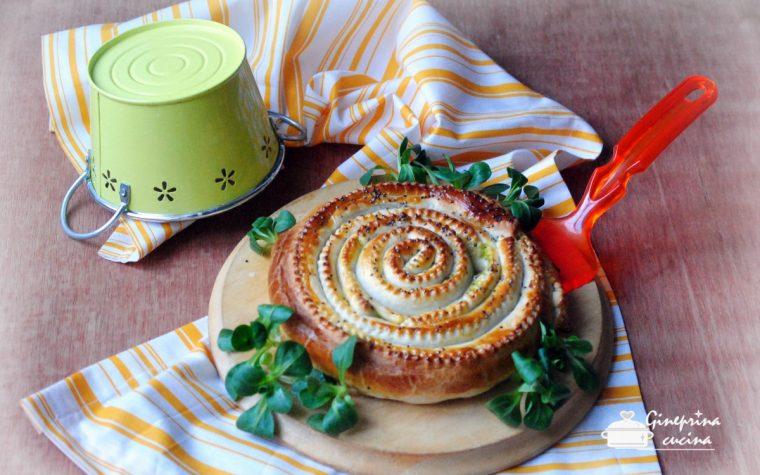 torta a spirale ai broccoli