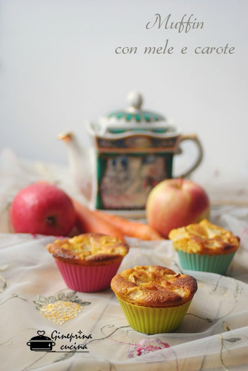muffin con mele e carote