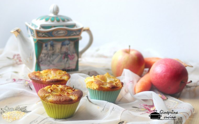 muffin con mele e carote senza burro