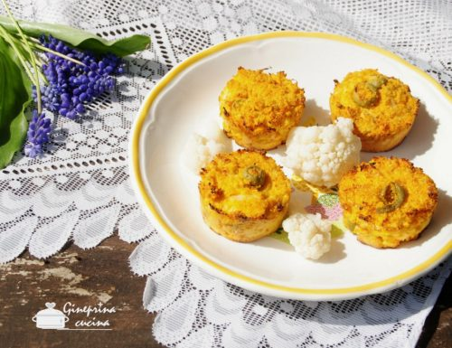 tortini alla polenta con cavolfiore e carote – gluten free