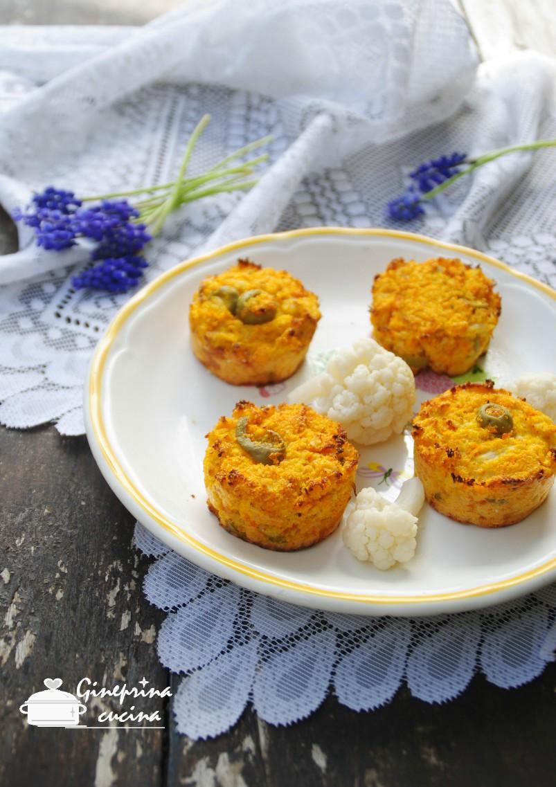 tortini alla polenta con cavolo e carote