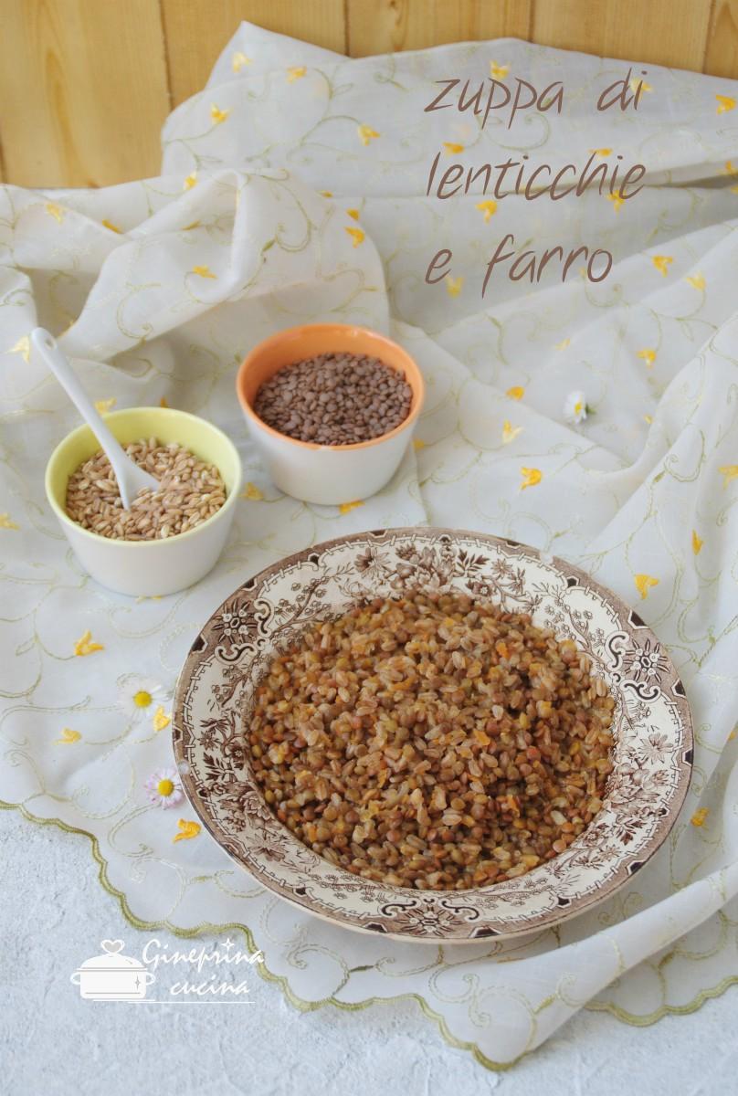 zuppa di lenticchie e farro
