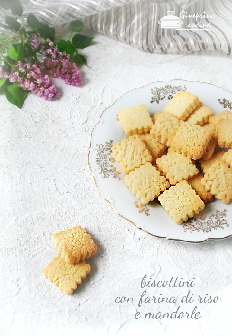 biscottini con farina di riso e mandorle