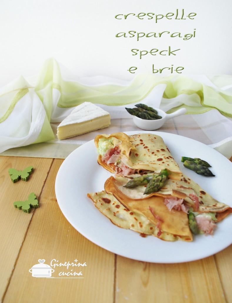 crespelle con asparagi speck e brie