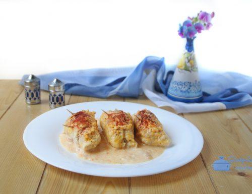 involtini di tacchino con prosciutto formaggio e paprica