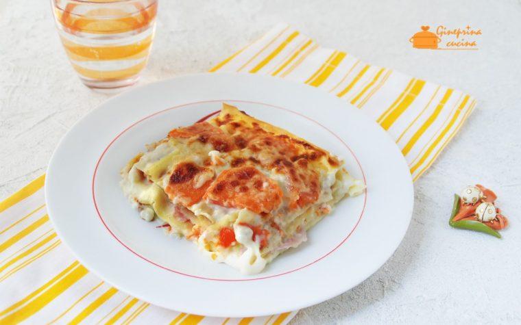 lasagne farcite con zucca e prosciutto
