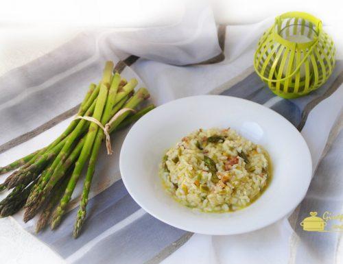 risotto agli asparagi e prosciutto crudo