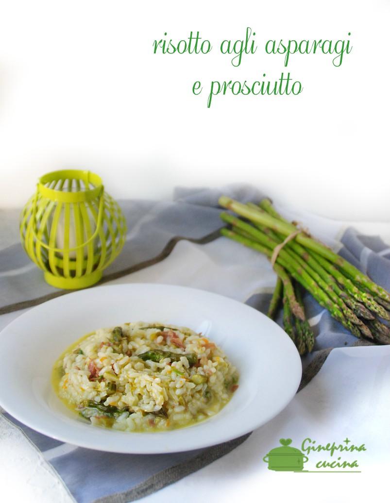 risotto agli asparagi e prosciutto