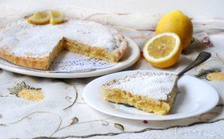 torta di frolla con crema al limone