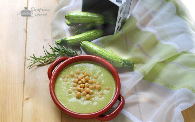 crema di zucchine con i ceci