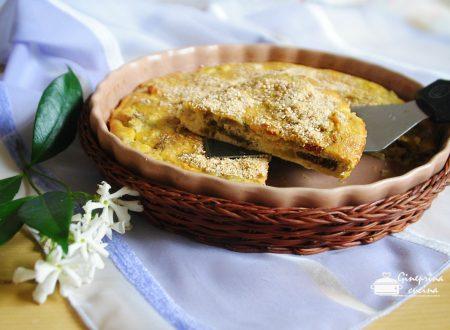 frittata di melanzane con pomodorini secchi - cotta in forno