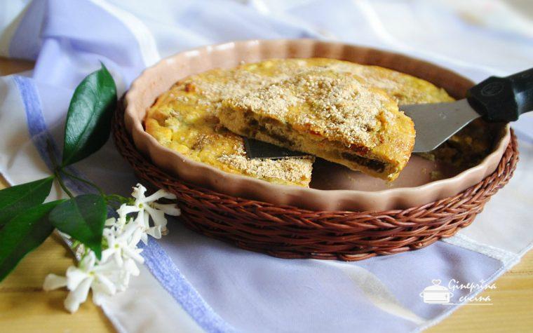 frittata di melanzane con pomodorini secchi – cotta in forno