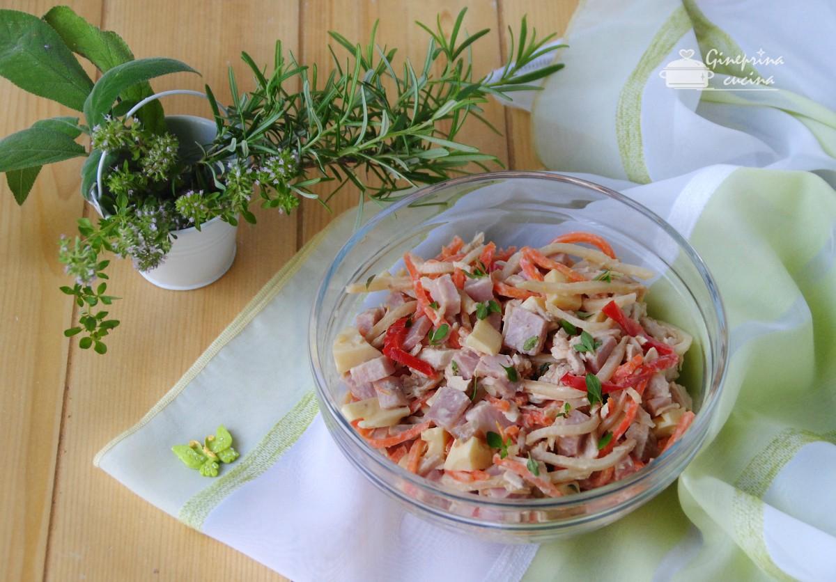 insalata di pollo prosciutto e verdurine
