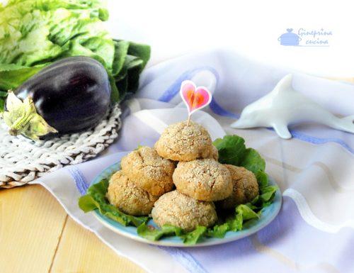 polpette di melanzane e tonno – cotte al forno