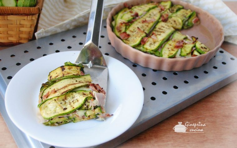 zucchine grigliate con provola e prosciutto