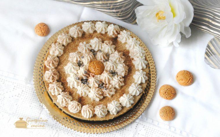 cake al caffé e amaretti – senza cottura e senza colla di pesce