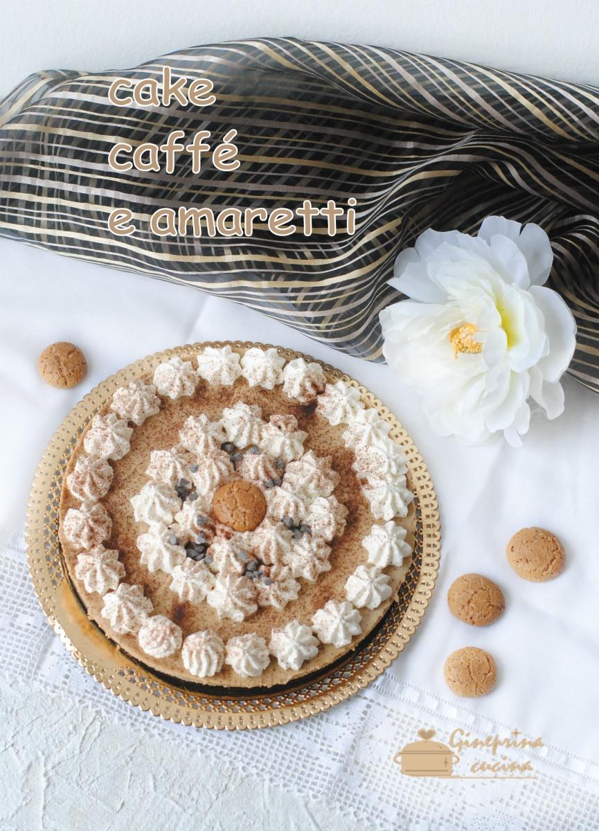 Cake Al Caffé E Amaretti Senza Cottura E Senza Colla Di Pesce