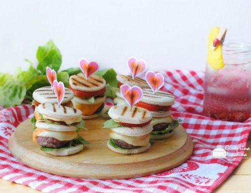torrette di pancarré con mini burger