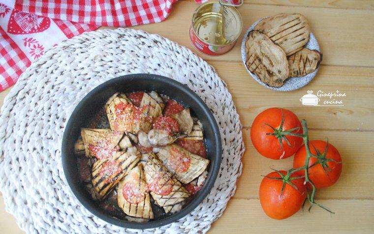 involtini di melanzane con tonno e robiola