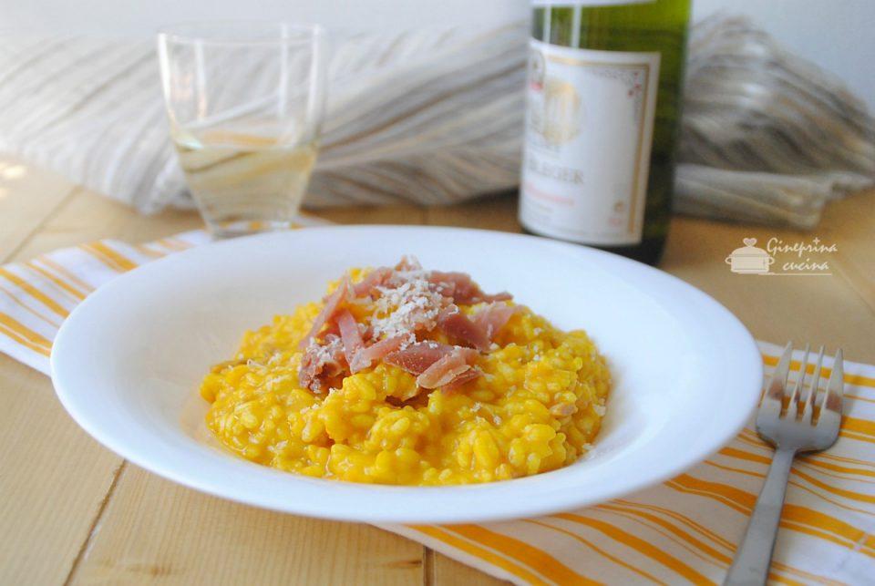 risotto con zucca fiocchetto e provolone