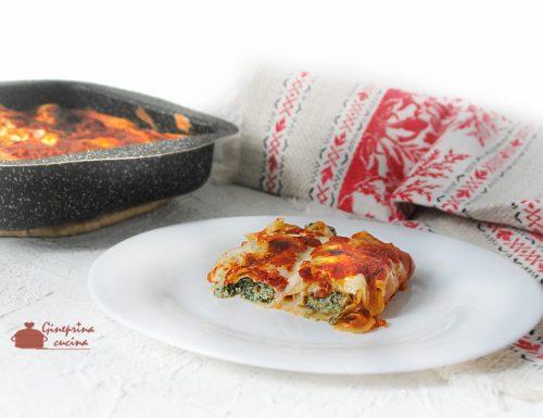 cannelloni al forno con spinaci ricotta e prosciutto