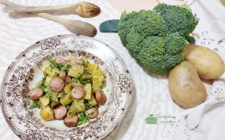 broccoli patate e wurstel al forno
