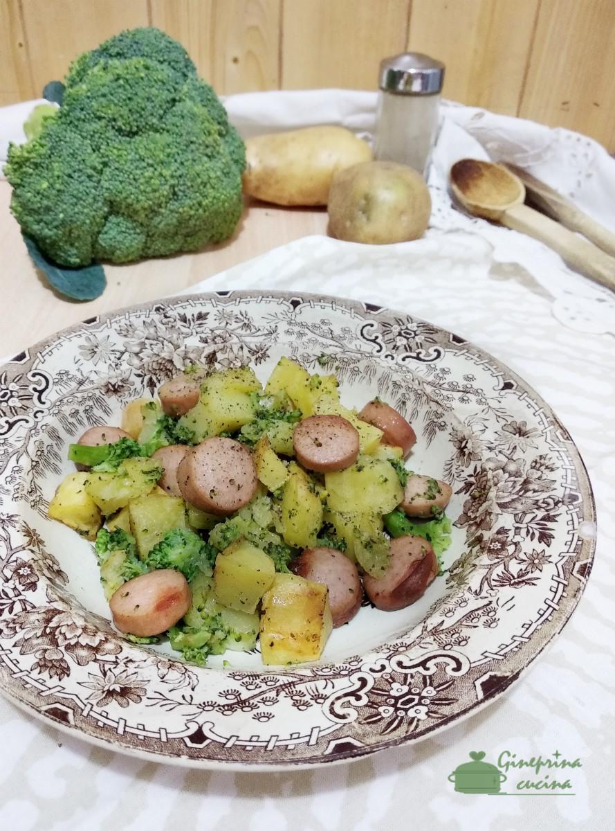 broccoli patate e wurstel