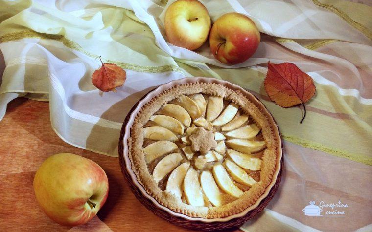 crostata di mele con frolla alla cannella