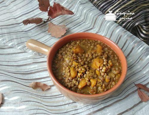 zuppa di lenticchie rosse e zucca con il bimby