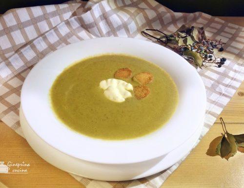 crema di lattuga con lenticchie e carote