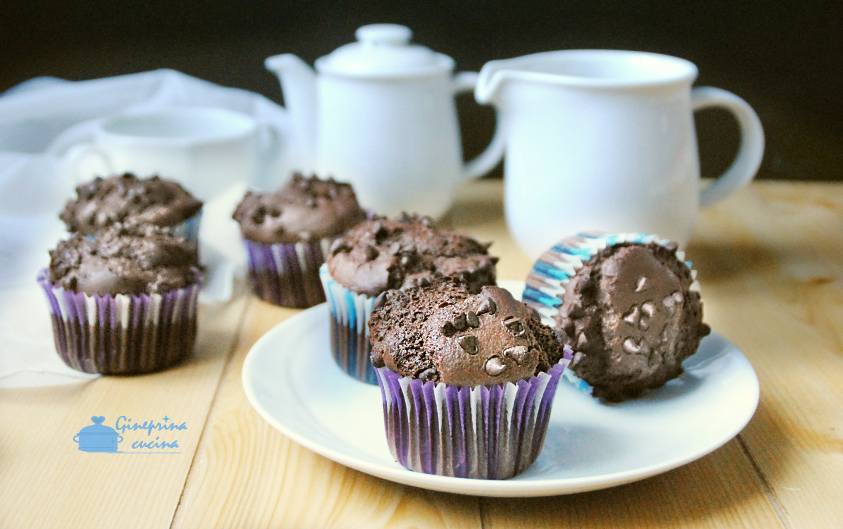 muffin al cioccolato con nocciole