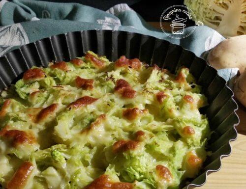 teglia di cavolo verza e patate