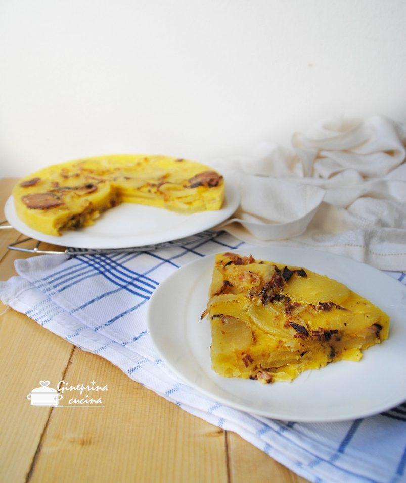 torta di patate speck e cipolle