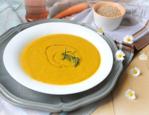 Crema di carote e lenticchie  anche con il bimby