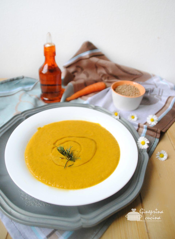 crema di carote e lenticchie