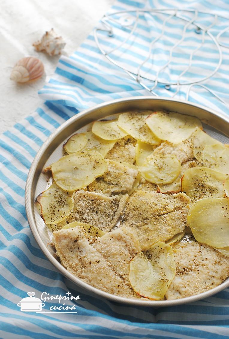 filetti di platessa con patate al forno