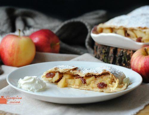 strudel di mele senza burro e uova