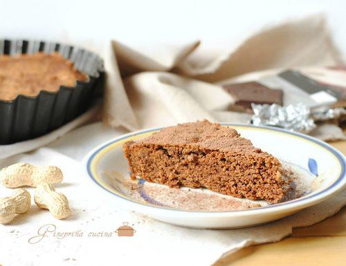 torta al cacao con burro di arachidi