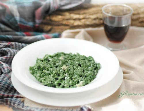 spätzle agli spinaci con crema al gorgonzola